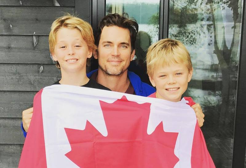 Matt Bomer's children - twin sons Walker and Henry Halls