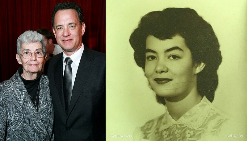 Tom Hanks' family - mother Janet Marylyn Frager