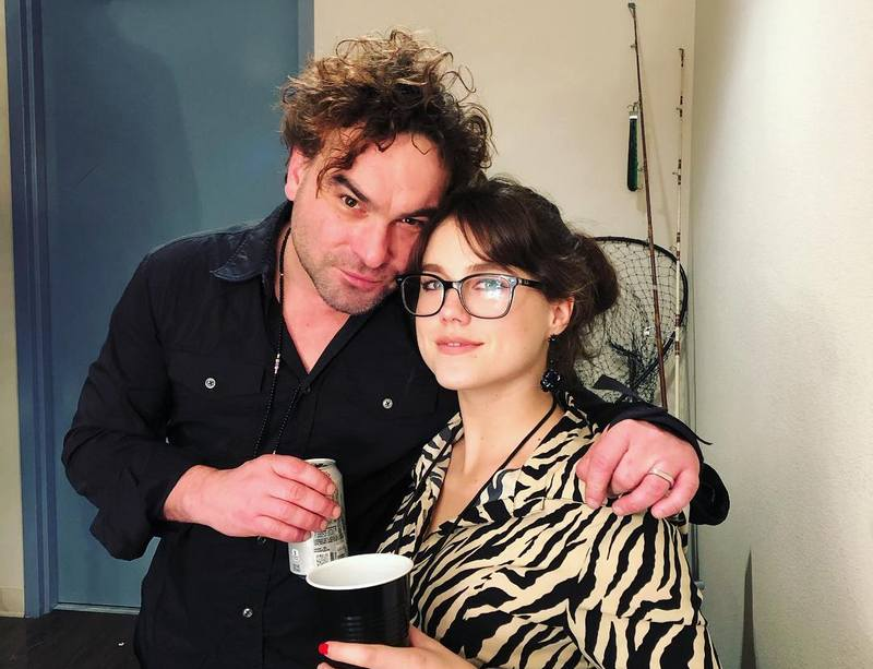 Johnny Galecki with girlfriend Alaina Meyer