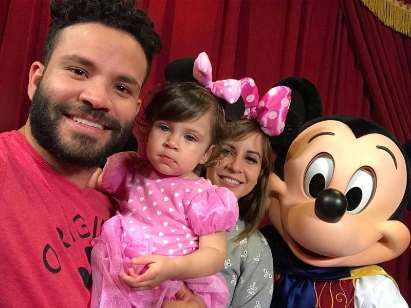Jose Altuve's children - daughter Melanie A. Altuve