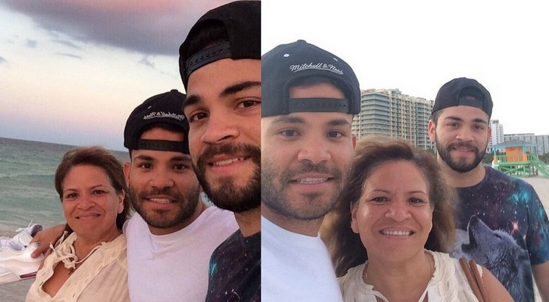Jose Altuve's family - mother Lastenia Linares