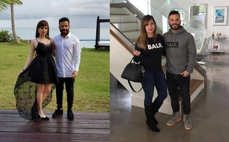 Jose Altuve's family - wife Nina Altuve