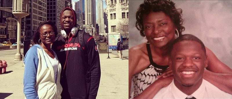 Julius Randle's family - mother Carolyn Kyles