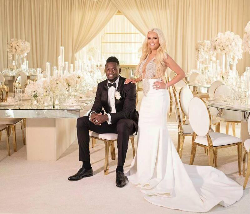 Julius Randle's family - wife Kendra Shaw
