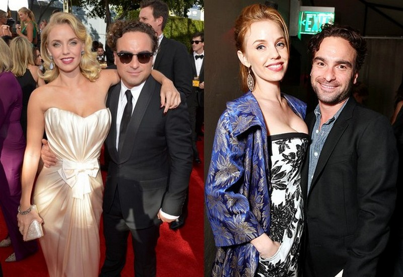 Johnny Galecki with ex-girlfriend Kelli Garner