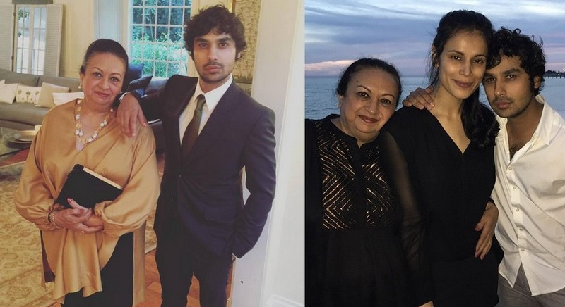 Kunal Nayyar's family - mother Heita Nayyar