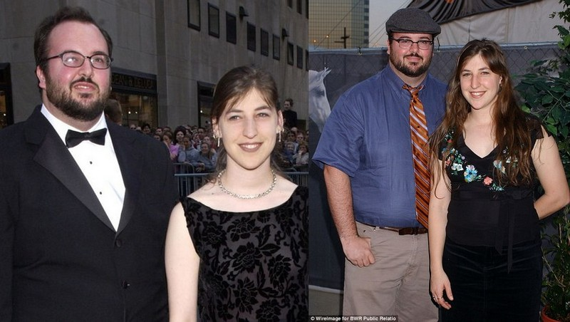 Mayim Bialik with ex-husband Michael Stone