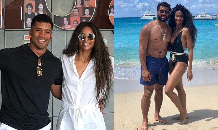 Russell Wilson's family - wife Ciara
