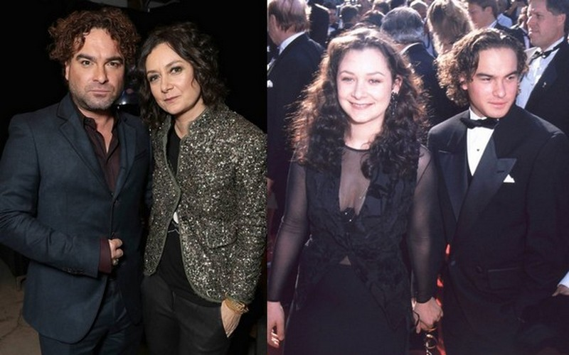 Johnny Galecki with ex-girlfriend Sara Gilbert