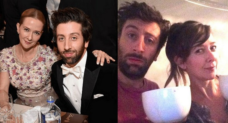Simon Helberg's family - wife Jocelyn Towne