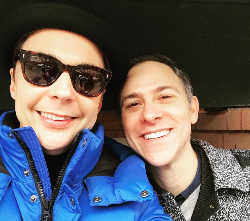 Jim Parsons with spouse Todd Spiewak