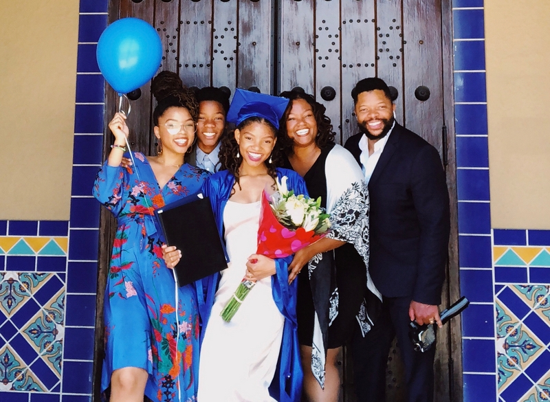 Chloe and Halle Bailey's family