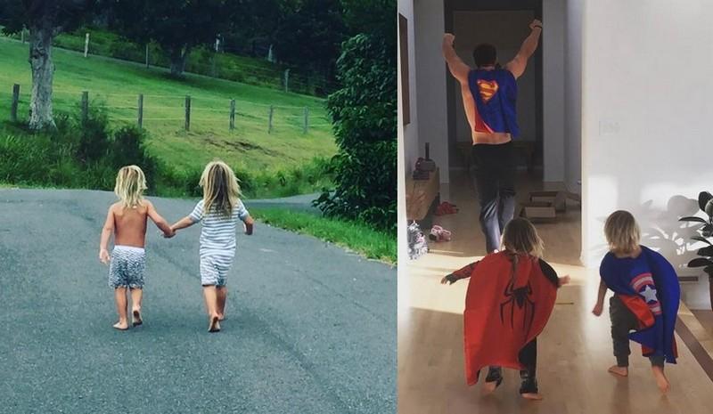 Chris Hemsworth's children - twin sons Tristan and Sasha Hemsworth