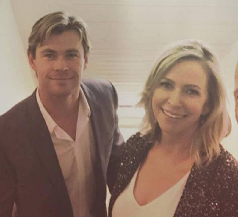 Chris Hemsworth's family - mother Leonie Hemsworth