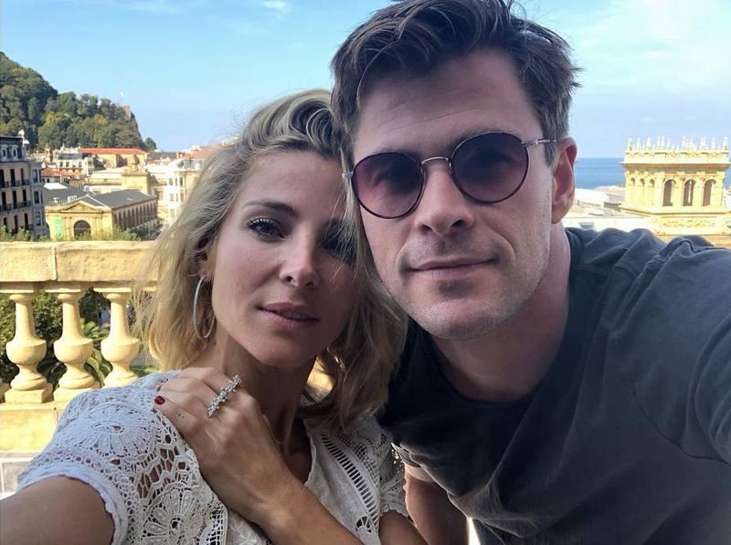 Chris Hemsworth's family - wife Elsa Pataky