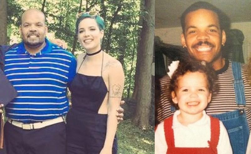 Halsey's family - father Chris Frangipane