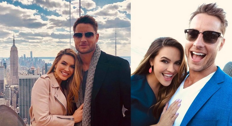 Justin Hartley's family - wife Chrishell Hartley