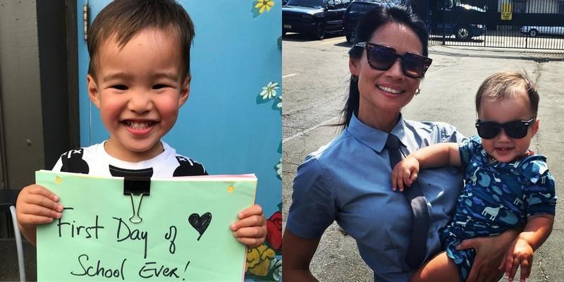 Lucy Liu's children - son Rockwell Lloyd Liu