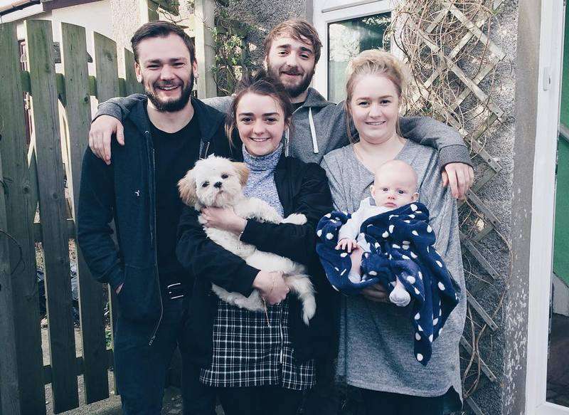 Maisie Williams' family - siblings