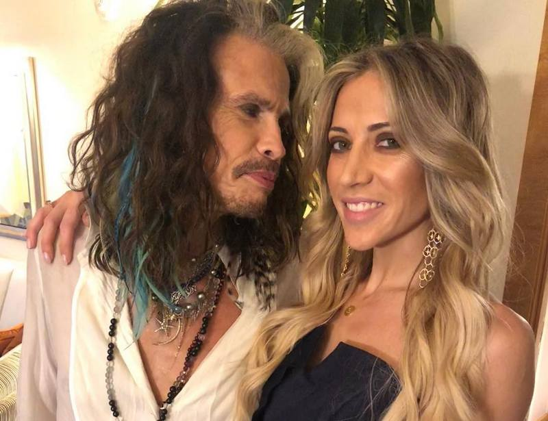 Steven Tyler's family - girlfriend Aimee Preston