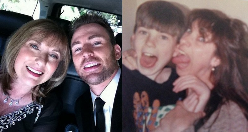 Chris Evans family - mother Lisa Evans