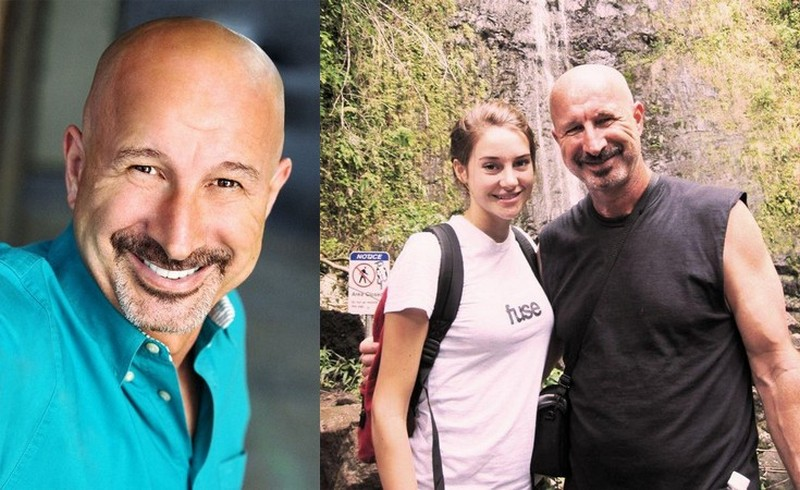 Shailene Woodley's family - father Lonnie Woodley