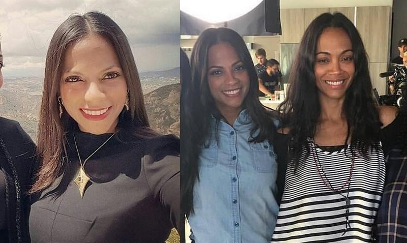 "Zoe Saldana's siblings - sister Cisely ""Cis"" Saldana Nazario"