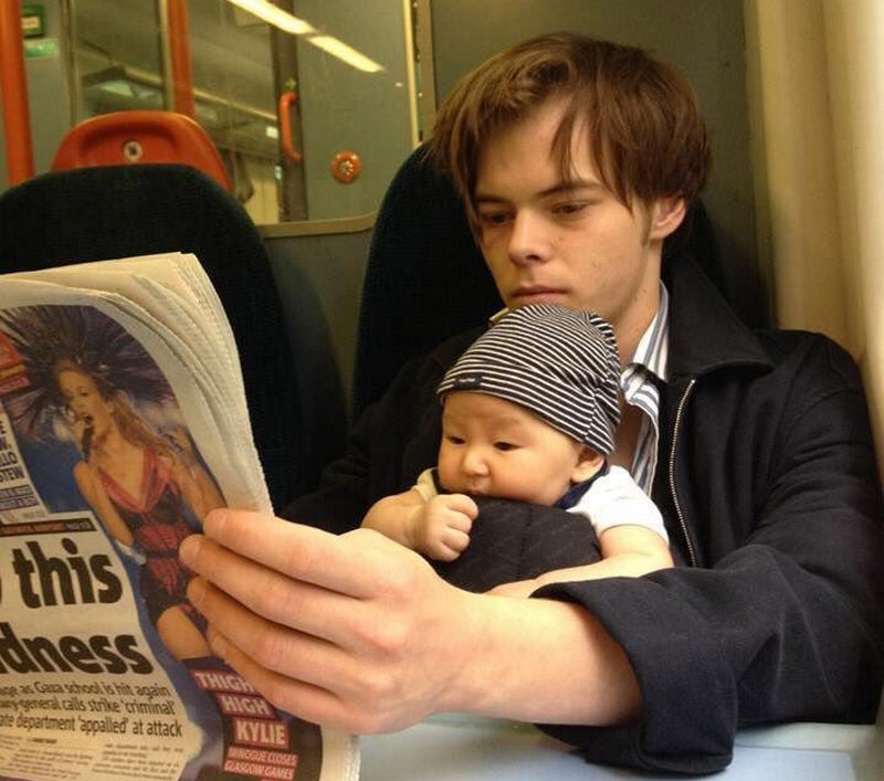 Charlie Heaton's children - son Archie Heaton