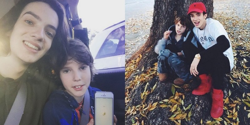 Kodi Smit-McPhee siblings - brother Caden McPhee