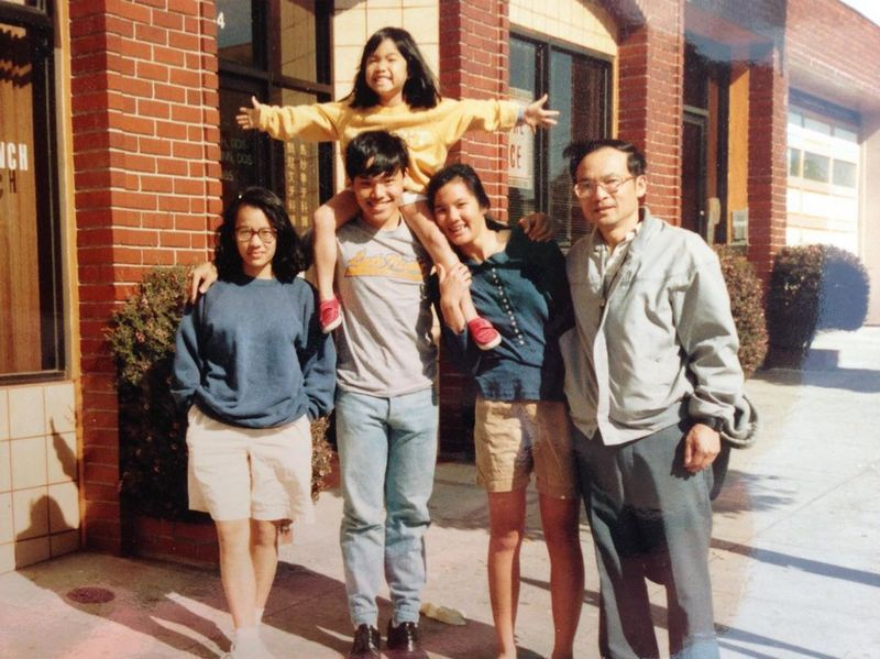 Ali Wong family - father Adolphus Wong