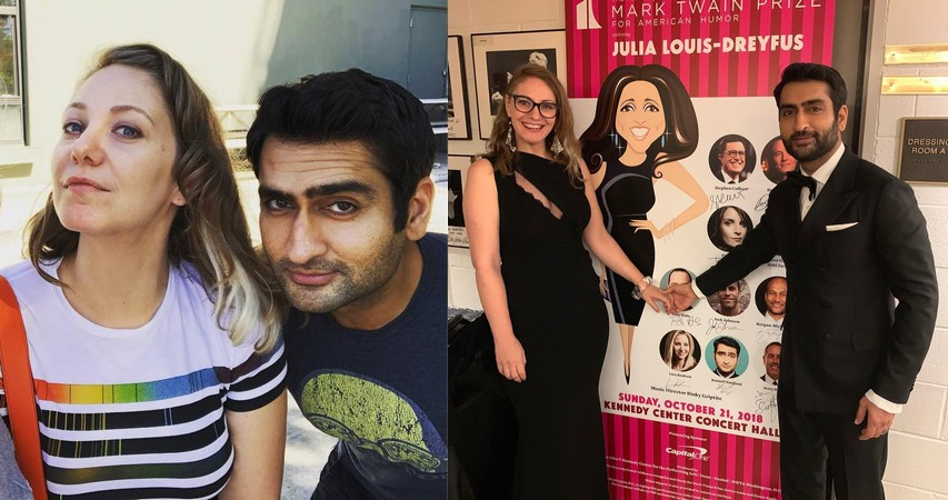 Kumail Nanjiani family - wife Emily V. Gordon