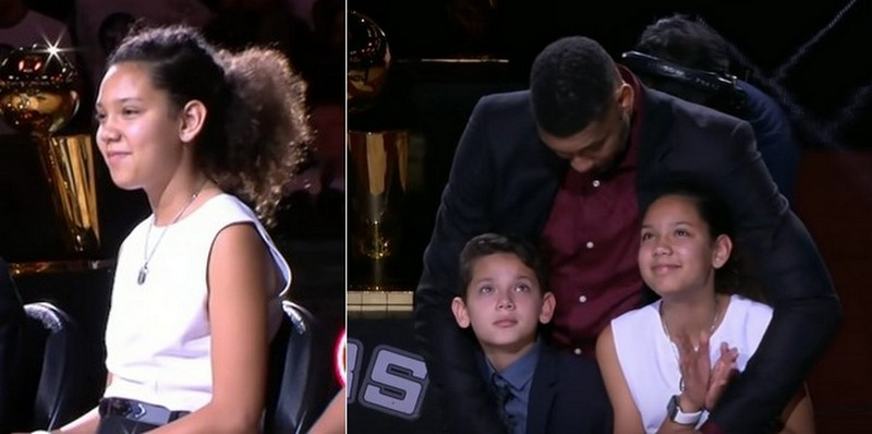 Tim Duncan children - daughter Sydney Duncan