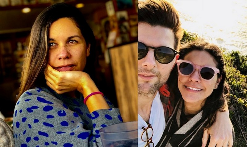 Adam Scott family - wife Naomi Scott