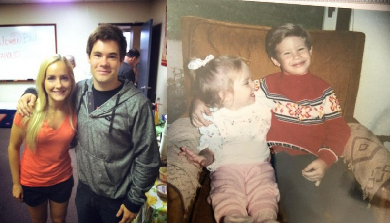 Adam DeVine siblings - sister Brittani DeVine