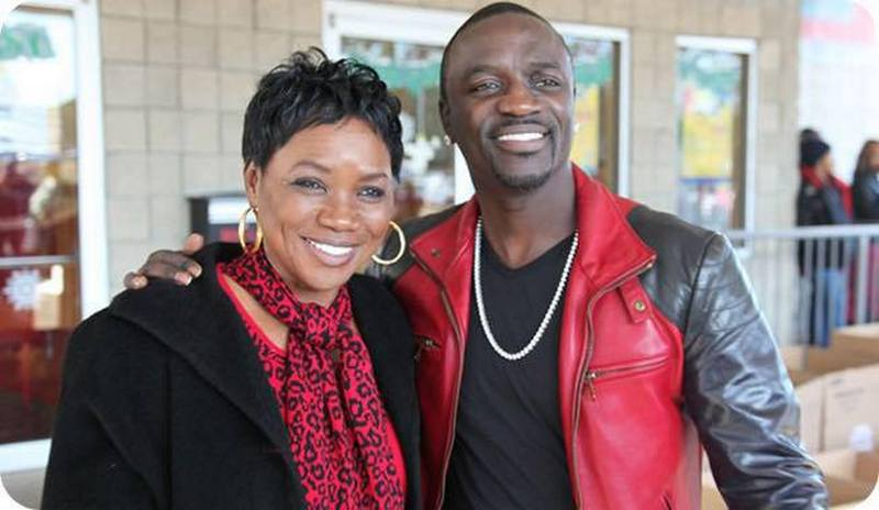 Akon family - mother Kine Gueye Thiam