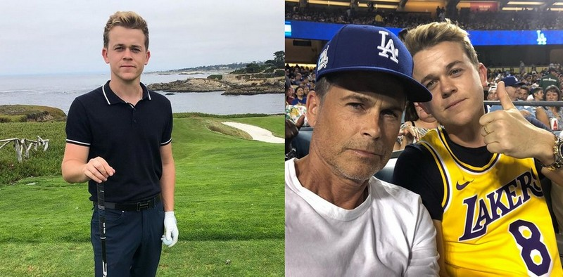Rob Lowe children - son John Owen Lowe
