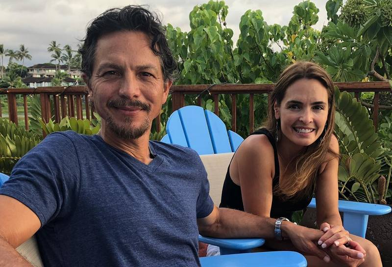 Benjamin Bratt family - wife Talisa Soto