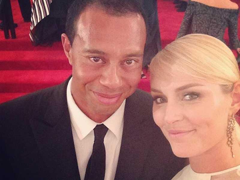 Lindsey Vonn family - ex-boyfriend Tiger Woods