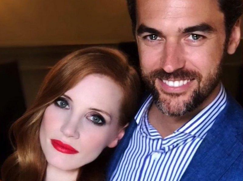 Jessica Chastain family - husband Gian Luca Passi de Preposulo