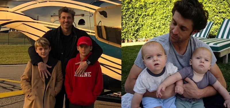 Patrick Dempsey children - twin sons Darby and Sullivan Dempsey