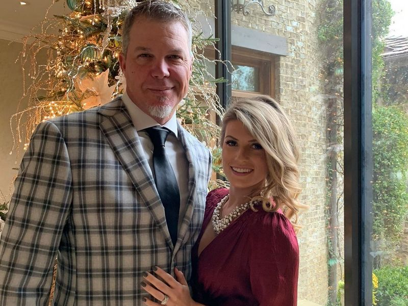 Chipper Jones family - wife Taylor Higgins